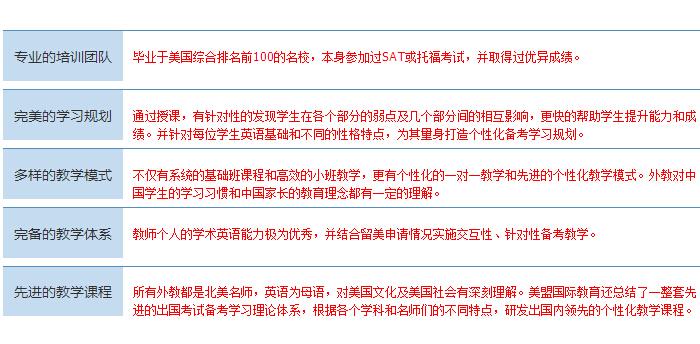 上海美盟sat师资介绍